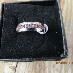 Jewelry - New Pink Tungsten Steel ring sz 9
